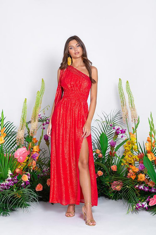SUNDRESS - LUCILE LONG DRESS MARBELLA COQUELICOT