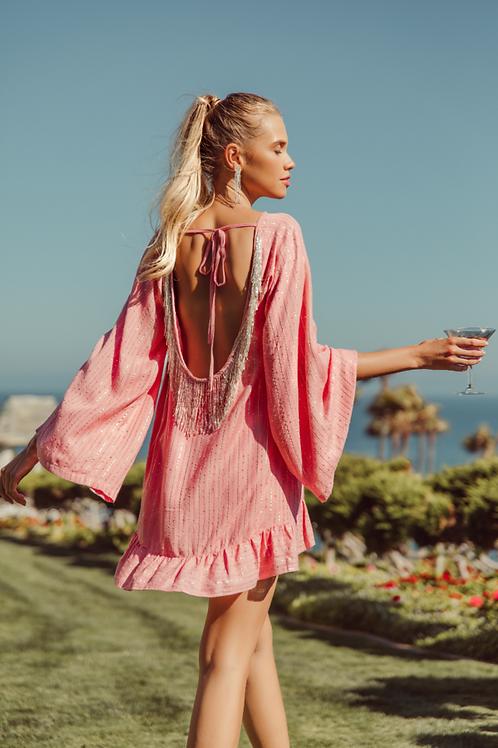SUNDRESS - INDIANA SHORT DRESS ROMA LIPSTICK