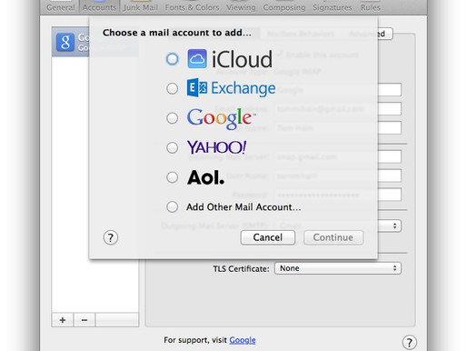 Email Using Apple Mail