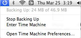 Time-machine-menu