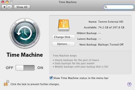 Time-Machine-connect