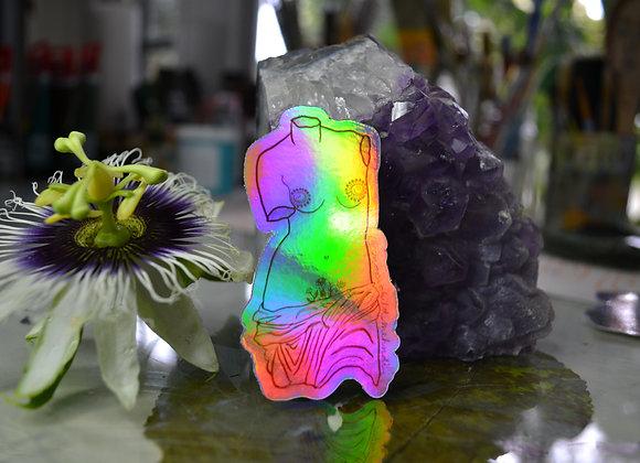 Holographic Henna Goddess