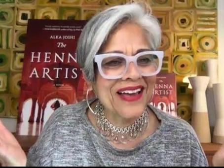 Henna talk with Alka Joshi, Author of The Henna Artist