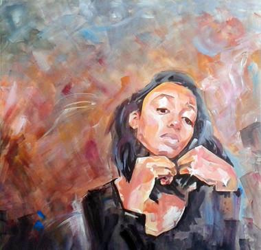 acrylic on canvas, 100cm x 100cm