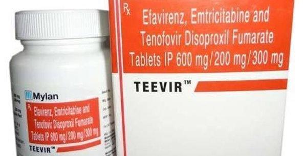 Teevir (Emtricitabine, Tenofovir, Efavirenz) x 30 tablets