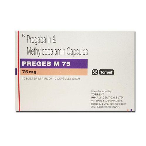 Pregeb M (Pregabaline + Mecobalamin)  (75mg / 750mcg) x 10 tablets