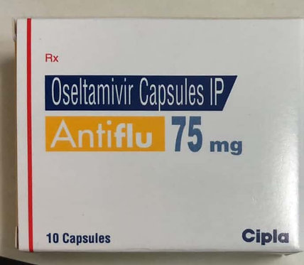 Antiflu x  10 tabs (Oseltamivir 75mg)