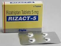 Rizact (Rizatriptan)  (5/10mg) x 4 tablet