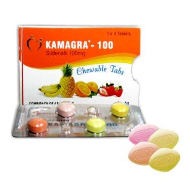 Kamagra Soft 100mg x 4 chewable tablets