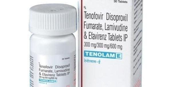 Tenolam E (efavirenz, lamivudine and tenofovir) 600mg/300mg/300mg x 30 tablets