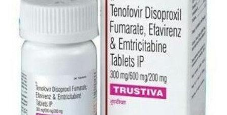 Trustiva (Emtricitabine + Tenofovir + Efavirenz) x 30 tablets
