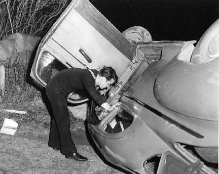 Tiverton Police accident scene
