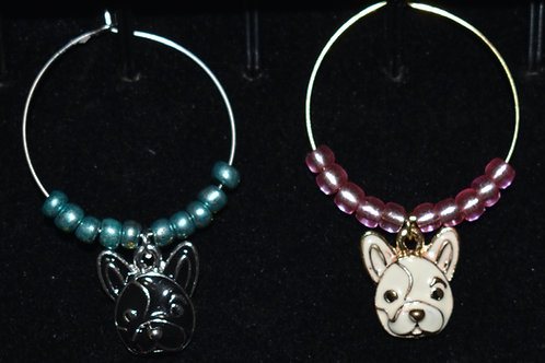 Puppy Wine Charms