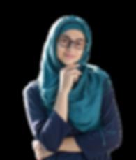 Muslim girl thinking