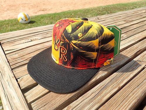 "The Original ""bR"" Black Rabbit Hat - Sunset/Palm"