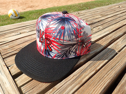 "The Original ""bR"" Black Rabbit Hat - Fireworks, Red/Black"