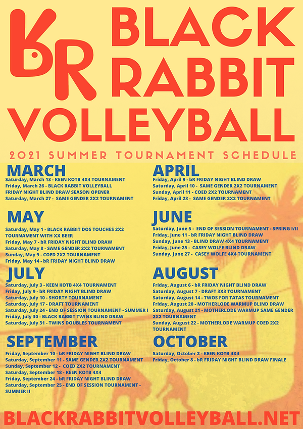 2021 bR Volleyball Tournament Schedule F