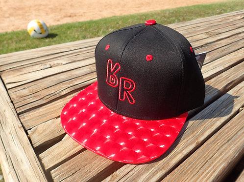 """The Original """"bR"""" Black Rabbit Hat - Hologram, Black/Red"""