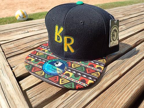 "The Original ""bR"" Black Rabbit Hat - Rasta, Black"