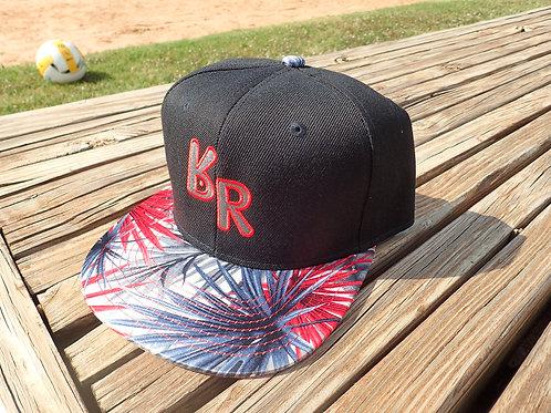 """The Original """"bR"""" Black Rabbit Hat - Fireworks, Black/Red"""