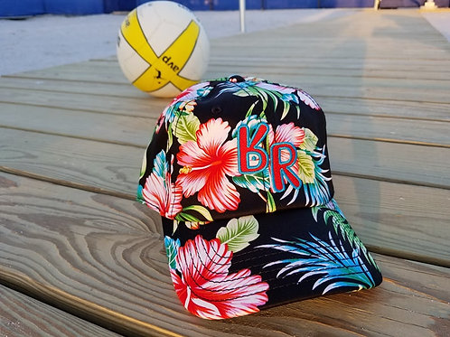 "The Original ""bR"" Black Rabbit Hat - Floral Unstructured ""Dad Hat"""