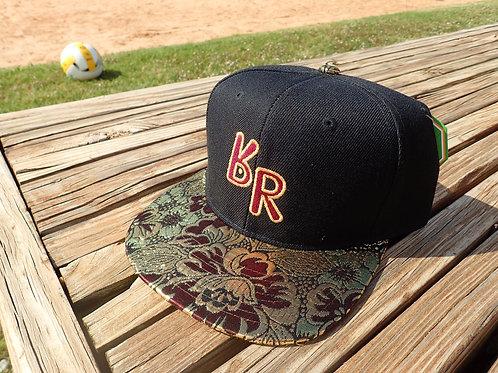 "The Original ""bR"" Black Rabbit Hat - Burgundy/Gold"