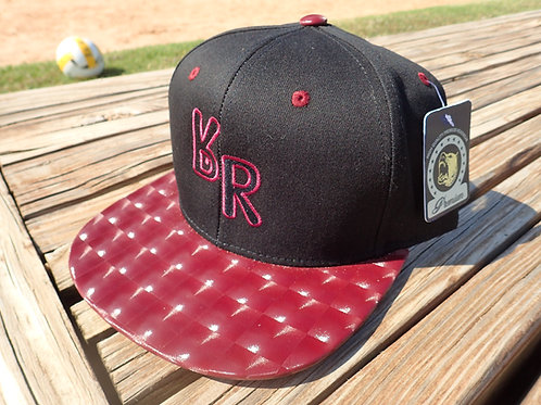 "The Original ""bR"" Black Rabbit Hat - Hologram, Black/Burgundy"