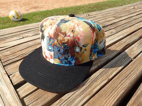 "The Original ""bR"" Black Rabbit Hat - Watercolor, brown and aqua"