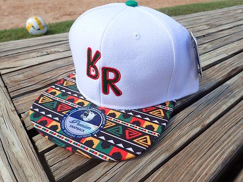 "The Original ""bR"" Black Rabbit Hat - Rasta, White"