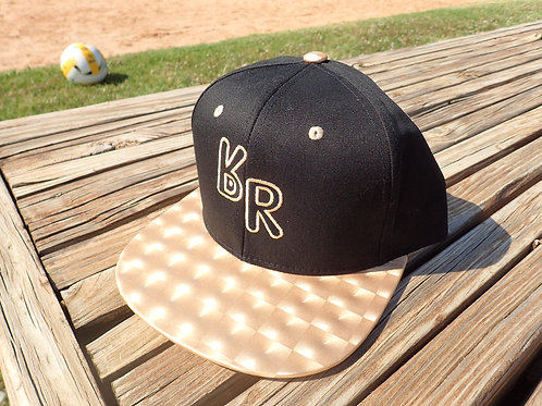 """The Original """"bR"""" Black Rabbit Hat - Hologram, Black/Gold"""