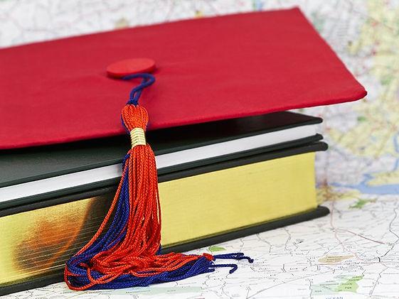 graduation hat and map.jpg