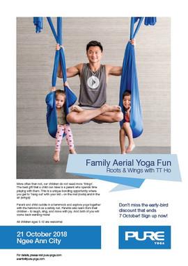 Family Aerial Yoga Fun -  October 2018