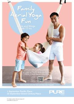 Family Aerial Yoga Fun - September 2019