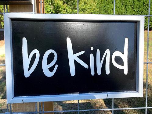Be Kind framed