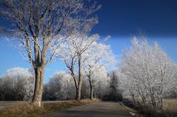 začátek zimy na Polomu