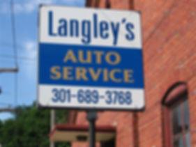 Langleys-auto-service-frostburg-md-sign.
