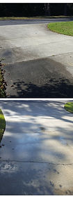 Driveway Before And After Pressure Washing, Northest Florida Pressure Washing