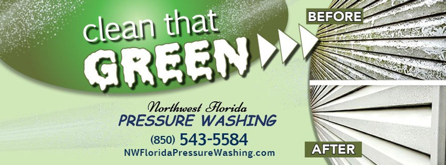 Northwest Florida Pressure Washing Clean That Green. Soft wash, house wash, pressure wash.