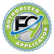 f9 Authorized Applicator Logo2020 WHITE
