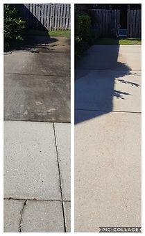 Driveway pressure washed by Northwet Florida Pressur Washing in Niceville, FL