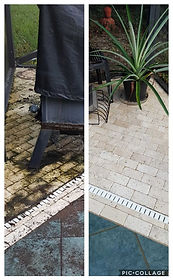 Patio/pool deck cleaning by Northwest Florida Pressure Washing in Blue Water Bay FL