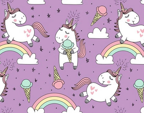 Ice Cream Unicorns Hooded Romper