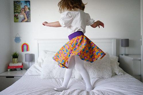 Retro Rainbows Twirly Skirt