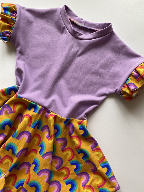 Retro Rainbows Twirly Dress