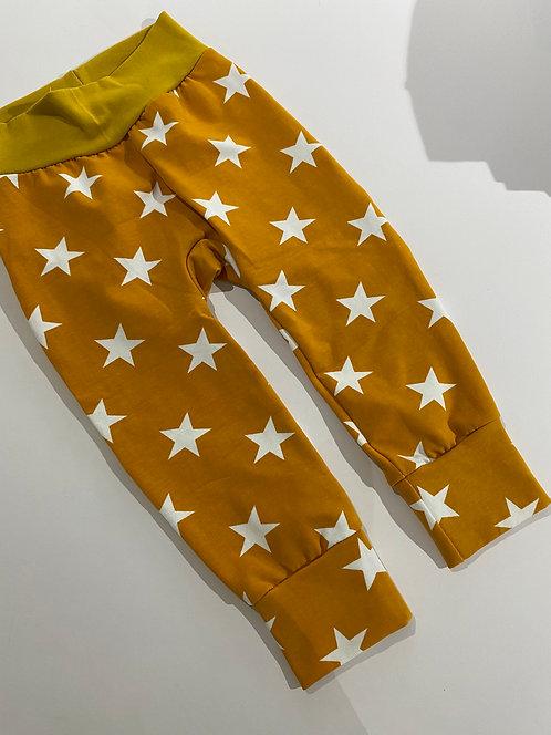 1-2y Mustard Stars leggings
