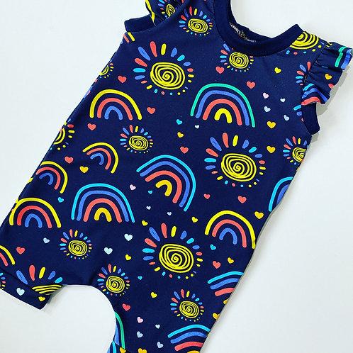 Sunshine Rainbow Short Jumpsuit