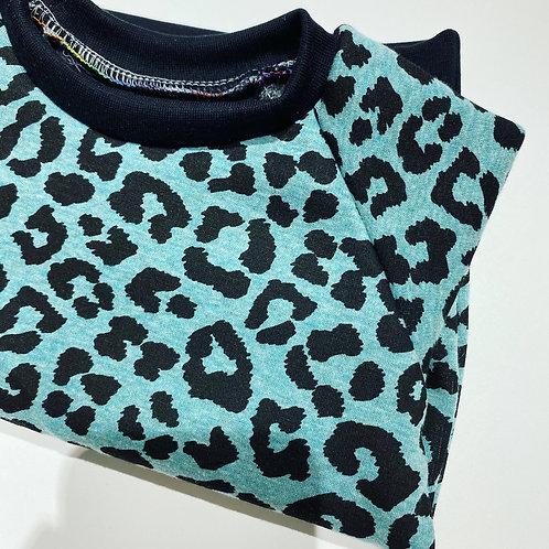 Mint Leopard Jumper