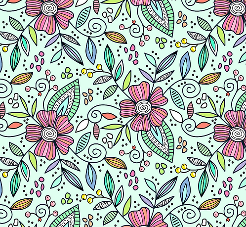 Mint Flowers Short Jumpsuit