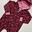 Thumbnail: Burgundy Rainbows Hooded Romper