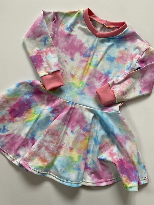 Pastel Tie Dye Twirly Dress